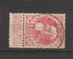 COB 74 Oblitéré OSTENDE - 1905 Grosse Barbe
