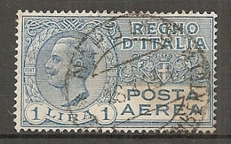 PA  Yv. N° 6,  SASS  N° 4  (o)   1l  Victor-Emmanuel  Cote  5 Euro BE  2 Scans - 1900-44 Victor Emmanuel III