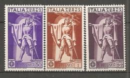 PA  Yv. N° 18 à 20,  SASS  N° A18 à A20   *   Ferrucci  Cote  7 Euro TBE  2 Scans - 1900-44 Vittorio Emanuele III
