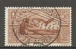 PA  Yv. N° 21,  SASS  N° A21   (o)  50c  Virgile  Cote  7,5 Euro BE  2 Scans - 1900-44 Vittorio Emanuele III