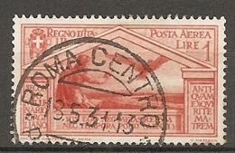 PA  Yv. N° 22,  SASS  N° A22   (o)  1l  Virgile  Cote  7,5 Euro BE  2 Scans - 1900-44 Vittorio Emanuele III