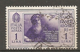 PA  Yv. N° 27,  SASS  N° A27   (o)  1l  Virgile  Cote  3 Euro BE  2 Scans - 1900-44 Vittorio Emanuele III