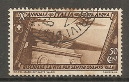 PA  Yv. N° 39,  SASS  N° A42   (o)  50c  Marche Sur Rome  Cote  4 Euro BE  2 Scans - 1900-44 Vittorio Emanuele III