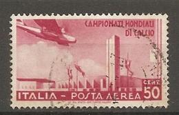 PA  Yv. N° 64,  SASS  N° A69   (o)  50c  Coupe De Football  Cote  10 Euro BE  2 Scans - 1900-44 Vittorio Emanuele III