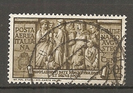 PA  Yv. N° 103,  SASS  N° A107   (o)  50c  Coupe De Football  Cote  4 Euro BE  2 Scans - 1900-44 Vittorio Emanuele III