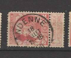 COB 74 Oblitéré ANDENNE - 1905 Grosse Barbe
