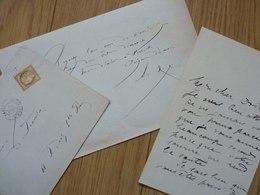 Arsène HOUSSAYE (1814-1896) Ecrivain, Poète ... Ami GAUTIER Et NERVAL. Doyenné ... 2 X AUTOGRAPHE - Autographes