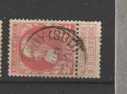 COB 74 Oblitéré CHARLEROY (SUD) - 1905 Grosse Barbe