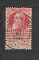 COB 74 Oblitéré BEVEREN (WAAS) - 1905 Grosse Barbe