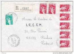 L4J009 France 1978 LR  Bologne Haute Marne  Pour Roubaix Nord  Aff. 7,20f  Cad  25 09 1978 - France