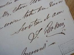 Italo GARDONI (1821-1882) Chanteur TENOR Italien. Art Lyrique. AUTOGRAPHE - Autógrafos