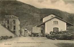 180119 - 26 CHATILLON EN DIOIS Vue De La Gare - Attelage Cheval Bois - Châtillon-en-Diois