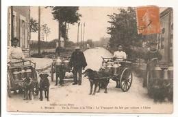 45 - BRIARE - 4 Voitures à Chien - De La Ferme à La Ville - Le Transport Du Lait - Briare