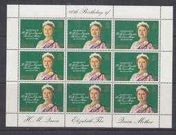 Gibraltar 1980 80th Birthday Queen Mother 1v Sheetlet ** Mnh (41688) - Gibraltar