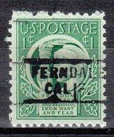 USA Precancel Vorausentwertung Preo, Locals California, Ferndale 729 - Préoblitérés
