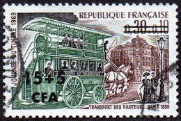Réunion Obl. N° 383 Journée Du Timbre 69 - Omnibus De Transport Des Facteurs En 1890 - Réunion (1852-1975)