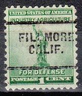 USA Precancel Vorausentwertung Preo, Locals California, Fillmore 703 - Préoblitérés
