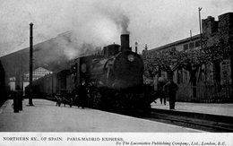 CPA - NORTHERN RY..OF SPAIN - PARIS-MADRID EXPRESS By Loco.publishing Company - F.G.1.246 - Stations With Trains