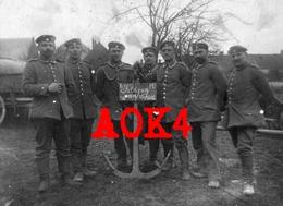 Nordfrankreich Somme Barleux Peronne Brückentrain 1915 Feldpost Minenwerfer Ancre Ponton - Guerre 1914-18