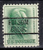 USA Precancel Vorausentwertung Preo, Locals California, Folsom 819 - Préoblitérés