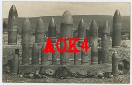 Collection D'obus Champagne Munition Artillerie Shrapnel Shell Fuse Fuze Canon Grenade Granate HE Brisant - Guerre 1914-18