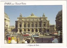 Paris: RENAULT 5GTL, FORD SIERRA, AUTOBUS/COACH - Paris Par Benoit Perrin - L'Opéra De Paris 1988 - Toerisme