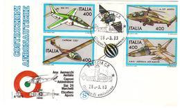Fdc Filagrano: COSTRUZIONI AEREE 1983; No Viaggiata; AF_Brescia - 6. 1946-.. Repubblica