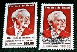 Brazil,1964,German President Heirich Luebke-, MNH. + Used. Michel # 1057 - Célébrités