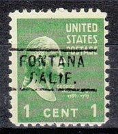 USA Precancel Vorausentwertung Preo, Locals California, Fontana 729 - Préoblitérés
