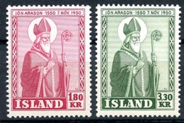 Iceland, 1950, Bishop Arason, MNH, Michel 271-272 - Islande