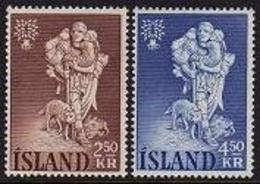 Iceland, 1960, World Refugee Year, WRY, United Nations, MNH, Michel 340-341 - Islande
