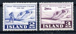 Iceland, 1951, Postal Service, MNH, Michel 273-274 - Islande
