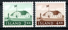 Iceland, 1958, Government Building, MNH, Michel 329-330 - Islande