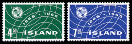 Iceland, 1965, International Telecommunication Union, ITU, United Nations, MNH, Michel 390-391 - Islande