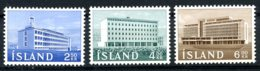 Iceland, 1962, Buildings, Architecture, MNH, Michel 361-363 - Islande