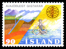 Iceland, 1977, International Year Against Rheumatism, WHO, United Nations, MNH, Michel 526 - Islande