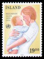 Iceland, 1988, World Health Organization, WHO, United Nations, MNH, Michel 694 - Islande