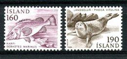 Iceland, 1980, Fish, Seal, Animals, Fauna, MNH, Michel 558, 560 - Islande