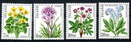 Iceland, 1983, Flowers, Flora, MNH, Michel 592-595 - Islande