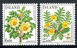 Iceland, 1984, Flowers, Flora, MNH, Michel 612-613 - Islande