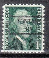 USA Precancel Vorausentwertung Preo, Locals California, Fontana 841 - Préoblitérés