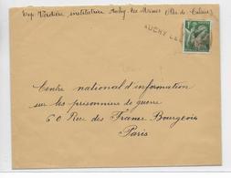 1940 - CACHET PROVISOIRE - DEBACLE ET EVACUATION Du MATERIEL POSTAL - ENVELOPPE FM De AUCHY LES MINES (PAS DE CALAIS) - Marcophilie (Lettres)