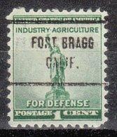 USA Precancel Vorausentwertung Preo, Locals California, Fort Bragg 713 - Préoblitérés
