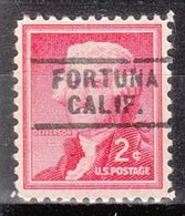 USA Precancel Vorausentwertung Preo, Locals California, Fortuna 729 - Préoblitérés