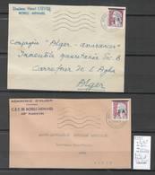 Algérie - EA - Devants De Lettres - Cachet De Bordj Menaiel - Tizi Ouzou -2 Piéces - Algérie (1924-1962)