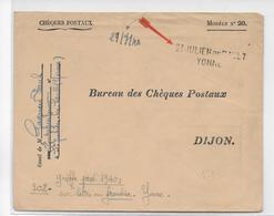 1940 - CACHET PROVISOIRE - DEBACLE ET EVACUATION Du MATERIEL POSTAL - ENVELOPPE PTT De ST JULIEN Du SAULT (YONNE) - Marcophilie (Lettres)