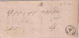 BADE 1861 LETTRE DE WIESBADEN AVEC GR.BAD.BAHNPOST POUR LAHR - Baden