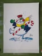 KOV 8-93 - New Year, Bonne Annee, Snowman, Bonhomme De Neige - Anno Nuovo