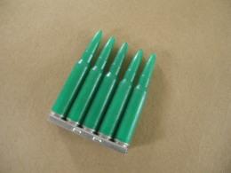 Clips De 5 Cartouches à Blanc En Plastique Verte, Cal 7,5 Mm - Equipement