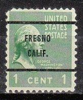 USA Precancel Vorausentwertung Preo, Bureau California, Fresno 804-61 - Préoblitérés